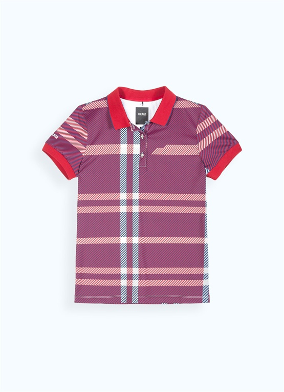 Glen plaid polo shirt