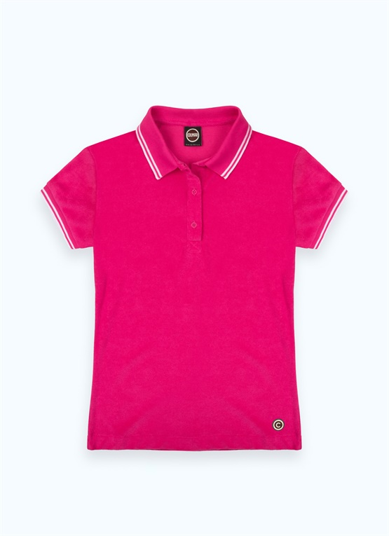 Cotton terrycloth polo shirt
