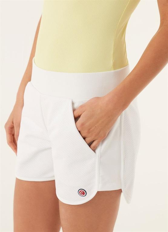shorts con inserti in rete