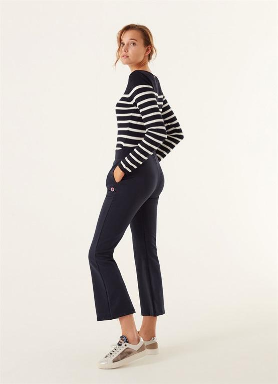pantaloni slim in felpa