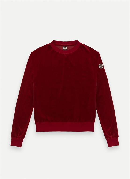Sweat-shirt ras de cou en chenille