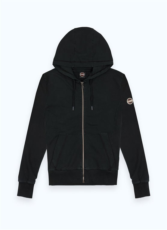 Sporty stretch cotton hoodie