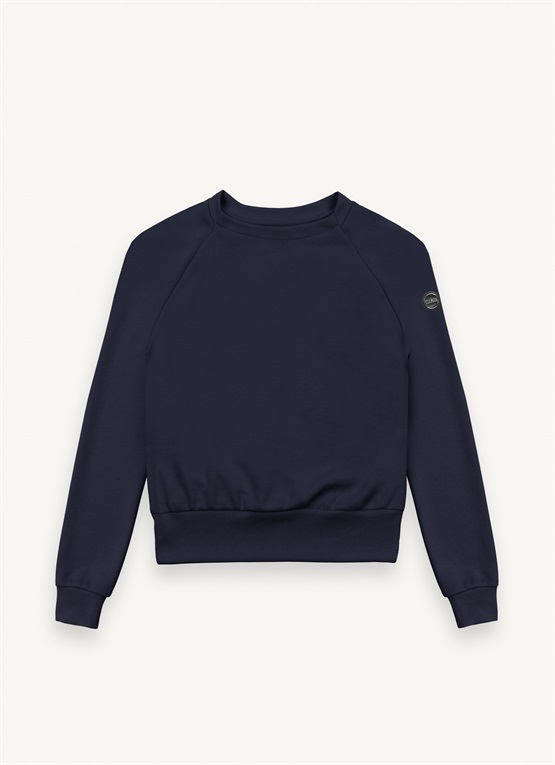 Research sweatshirt with raglan sleeves