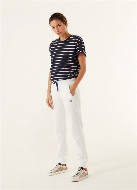 pantaloni slim in cotone stretch