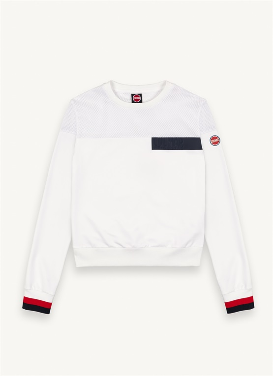 Crew-neck sweatshirt with transfer lettering