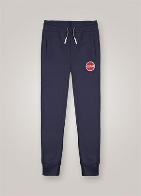 Fleece trousers with large logo